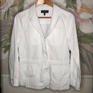 Women's Petite White Talbots Jacket/Blazer